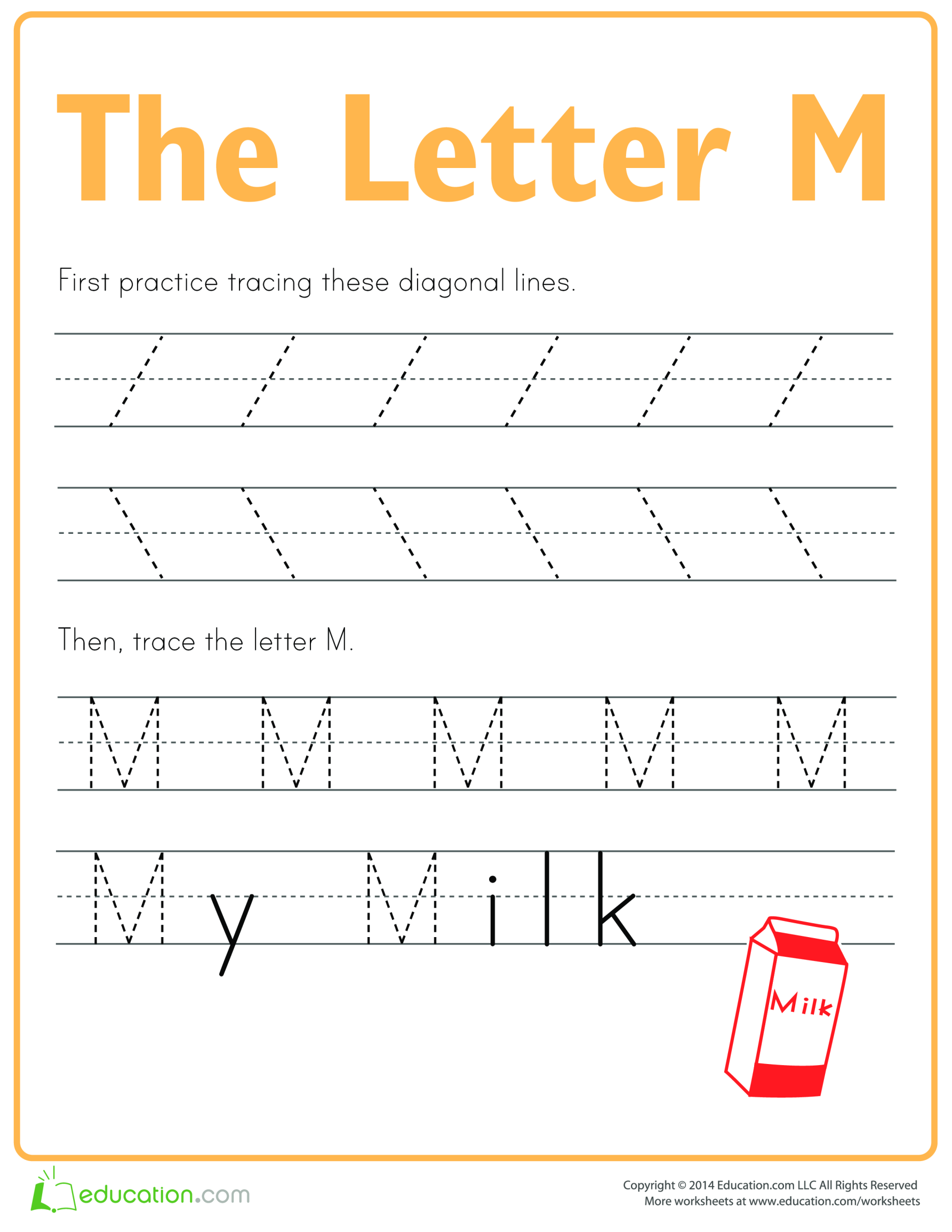 template topic preview image Practice to write letter M