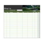 template topic preview image Mileage Log Worksheet Template