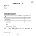 template topic preview image Salary Appraisal Letter sample