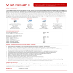 template topic preview image MBA Resume Example