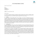 image Chief Technical Officer Appointment Letter