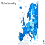 template topic preview image Modern Europe Map Outline