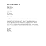 template topic preview image Sample Relocation Resignation Letter