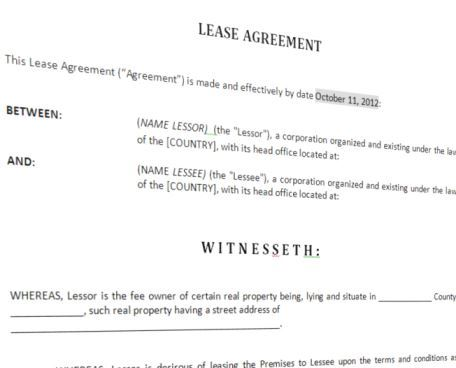 image Lease Agreement For Furnished House Template