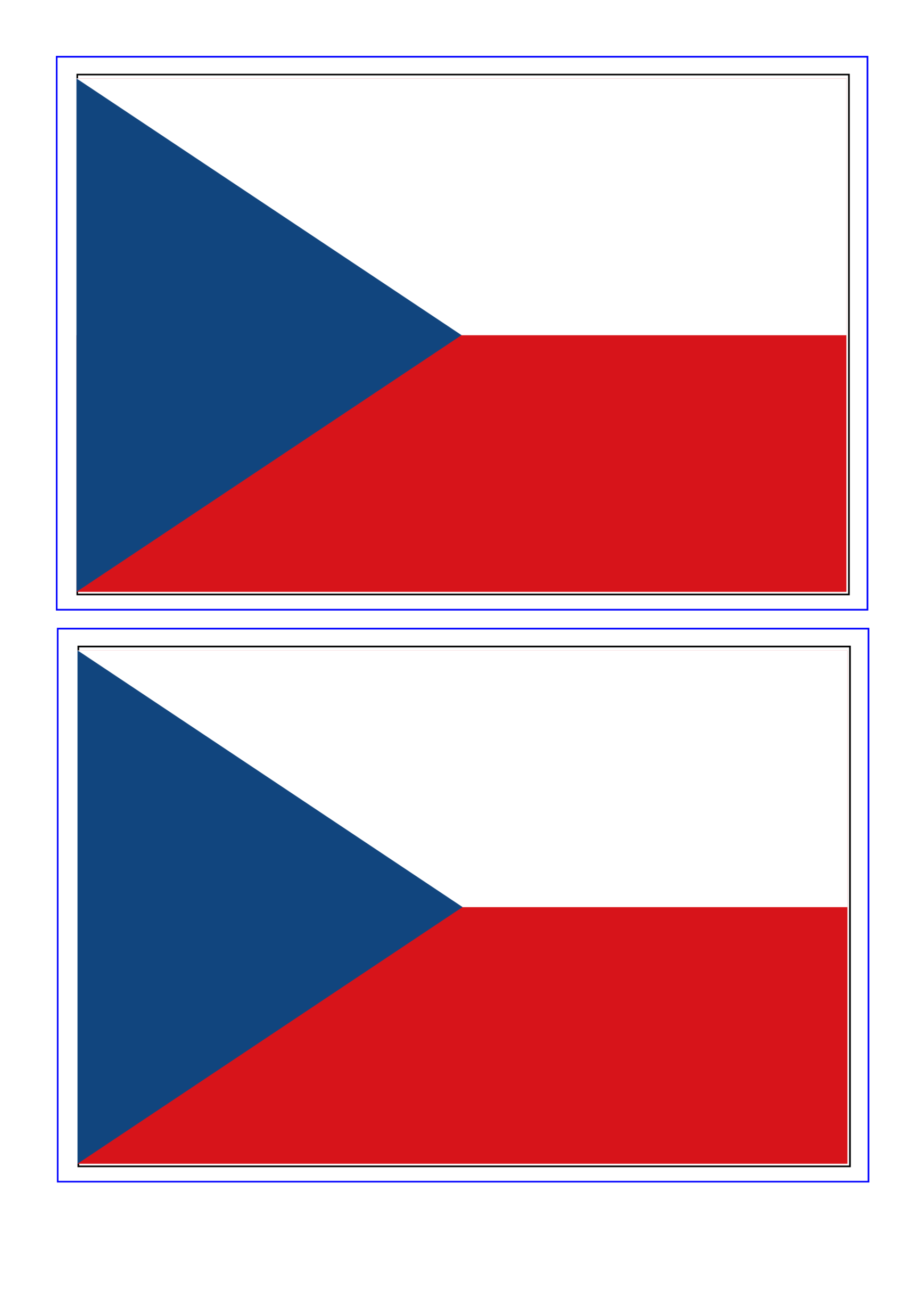 template preview imageCzech Republic Flag