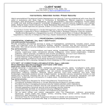 template topic preview image Security Officer Corrections Officer Resume Example