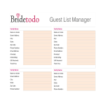 template topic preview image Printable Wedding Guest List