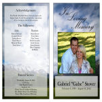 template topic preview image Obituary Program Sample