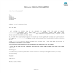 template topic preview image Formal Deputy Post Resignation Letter
