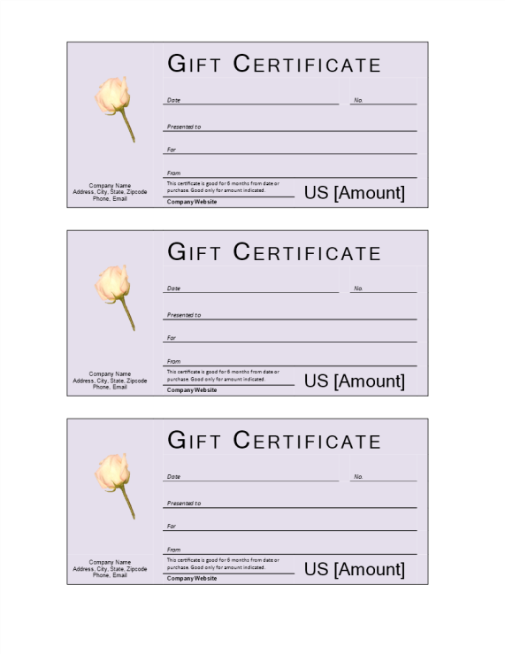 template preview imageDonation Gift Certificate