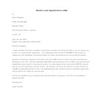 template preview imageBank Loan Application Letter template