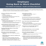 template topic preview image Back To Work Checklist Coronavirus Employees