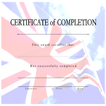 template topic preview image Certificate of Completion British Flag