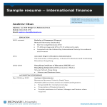 template topic preview image Professional Finance Resume