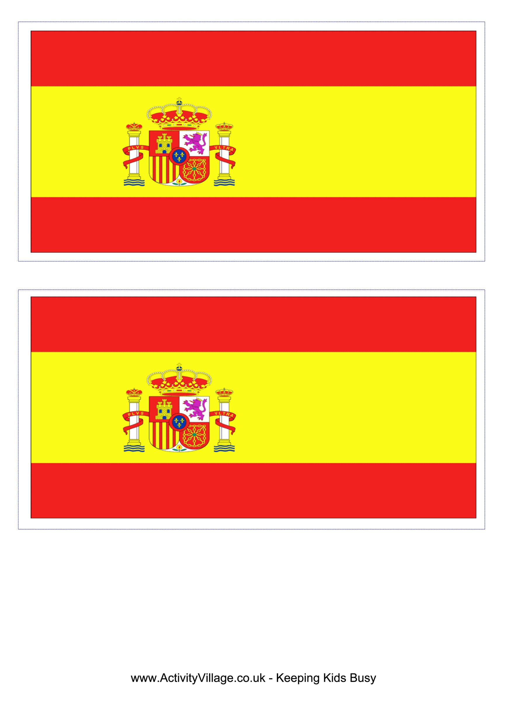 template preview imageSpain Flag