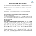 image Agreement between carrier and shipper