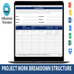 template topic preview image Work Breakdown Structure Table Excel