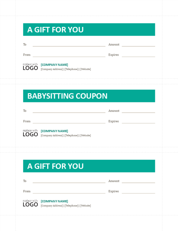 template preview imageBabysitting Coupon template