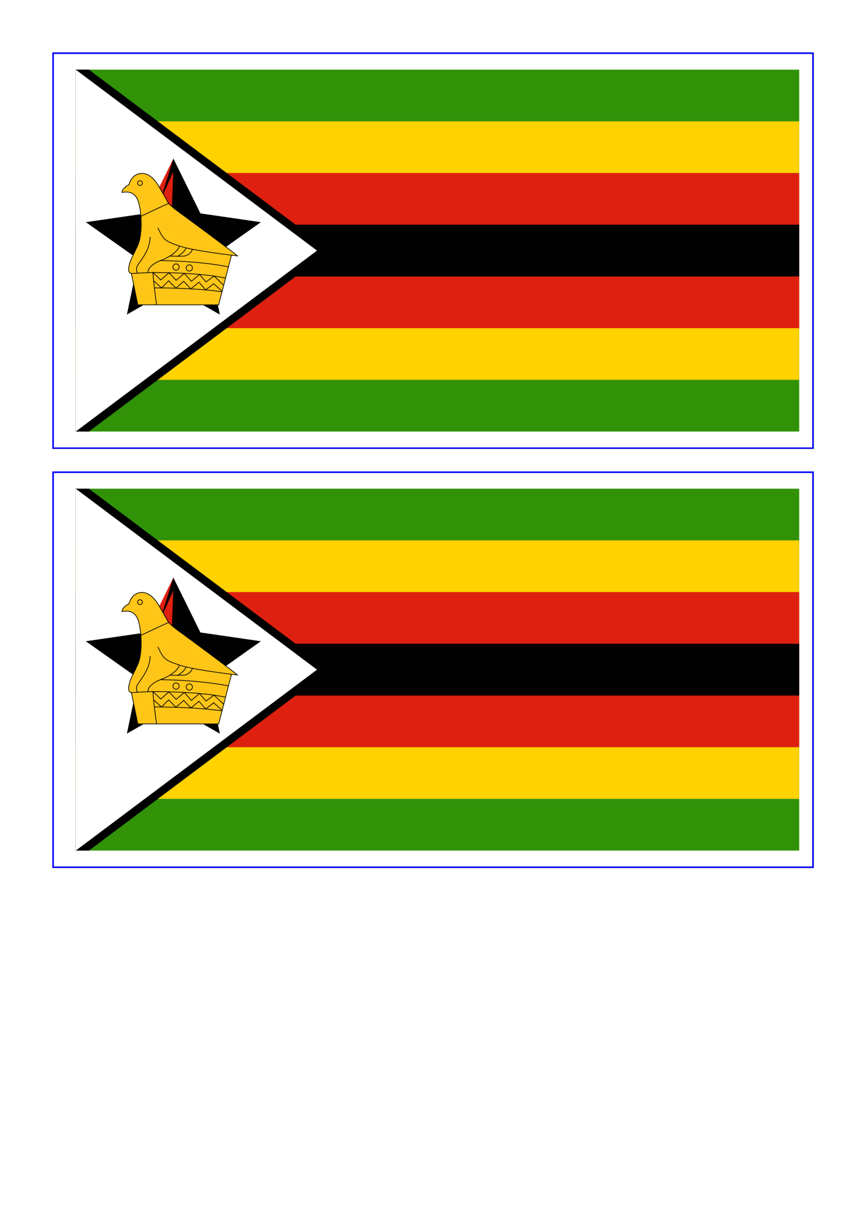 template topic preview image Zimbabwe printable flag template