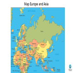 template topic preview image Map Europe and Asia Outline