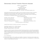 template topic preview image Elementary Education Teacher Resume Sample