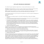 template topic preview image Affiliate Program Agreement Example