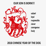 template topic preview image Chinese New Year Son Born Year of Dog