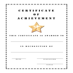 template topic preview image Certificate Of Achievement Stencil