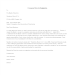 template topic preview image Company Director Resignation Letter Format