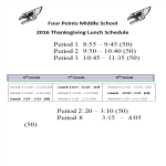 template topic preview image Thanksgiving Lunch Schedule