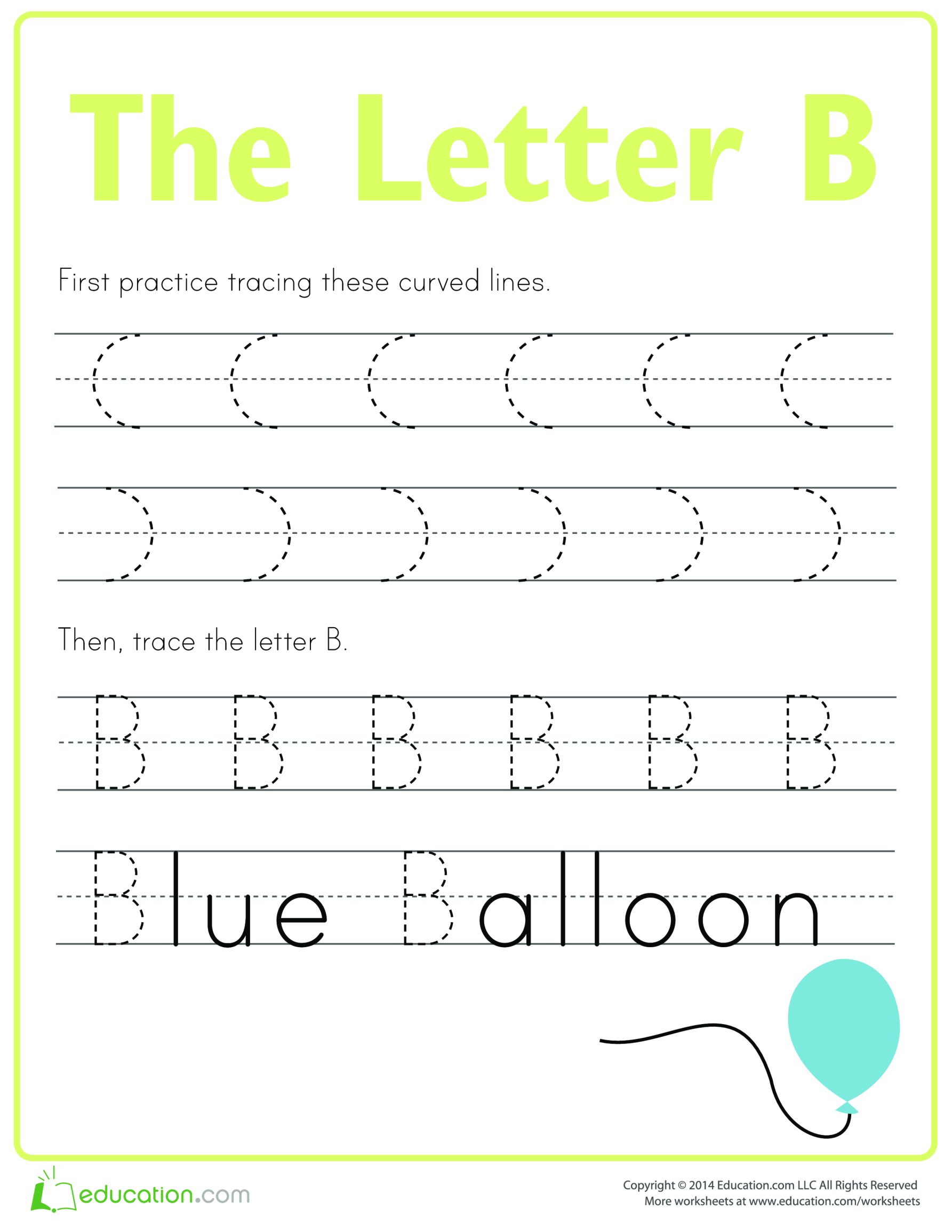 template topic preview image Practice to write letter B