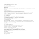 template topic preview image Assistant Property Manager Resume