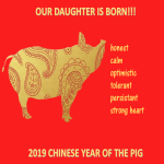 template topic preview image Chinese New Year Daughter is Born 2019 Year Pig