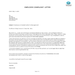 template topic preview image Employee Complaint Letter To Management