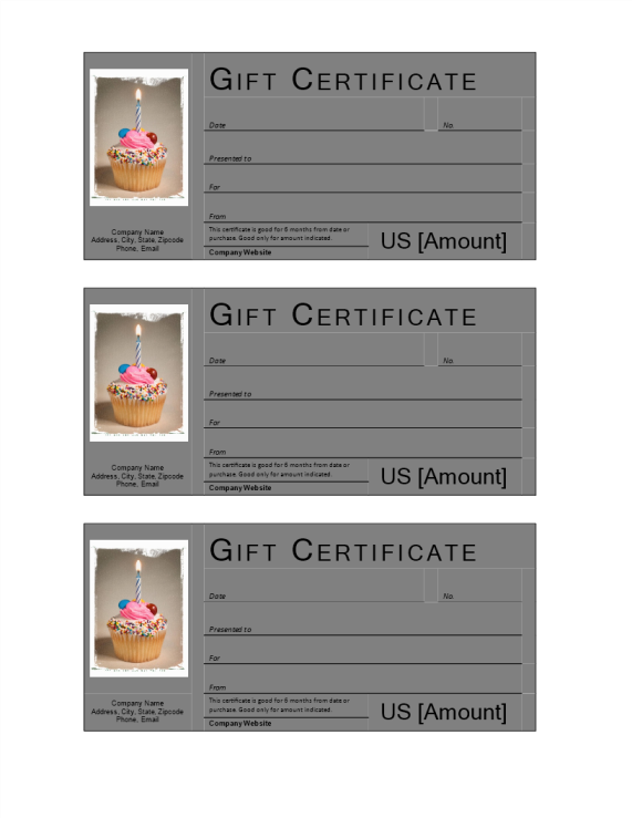 template preview imageBirthday Gift Certificate template
