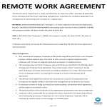 image Remote Work Agreement