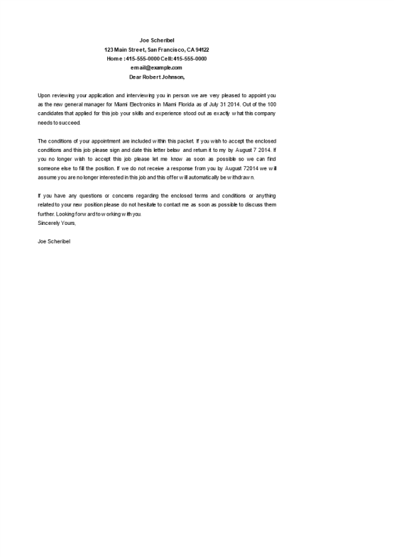 template topic preview image General Manager Appointment letter