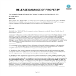 template topic preview image Release Waiver Agreement Damage To Property
