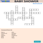 template topic preview image Crosswords Puzzle Baby Shower