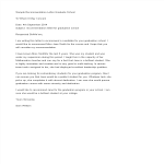 template topic preview image Recommendation Letter Graduate School