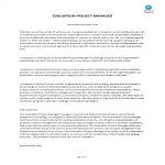 template preview imageEvaluation Project Manager Job Description