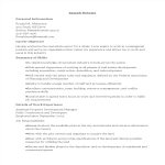 template topic preview image Property Development Manager Resume