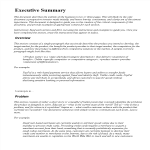 template topic preview image Executive Summary Word