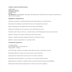 template topic preview image Sample Corporate Banking Resume