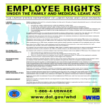 template topic preview image Employee rights poster Family Medical Leave Act