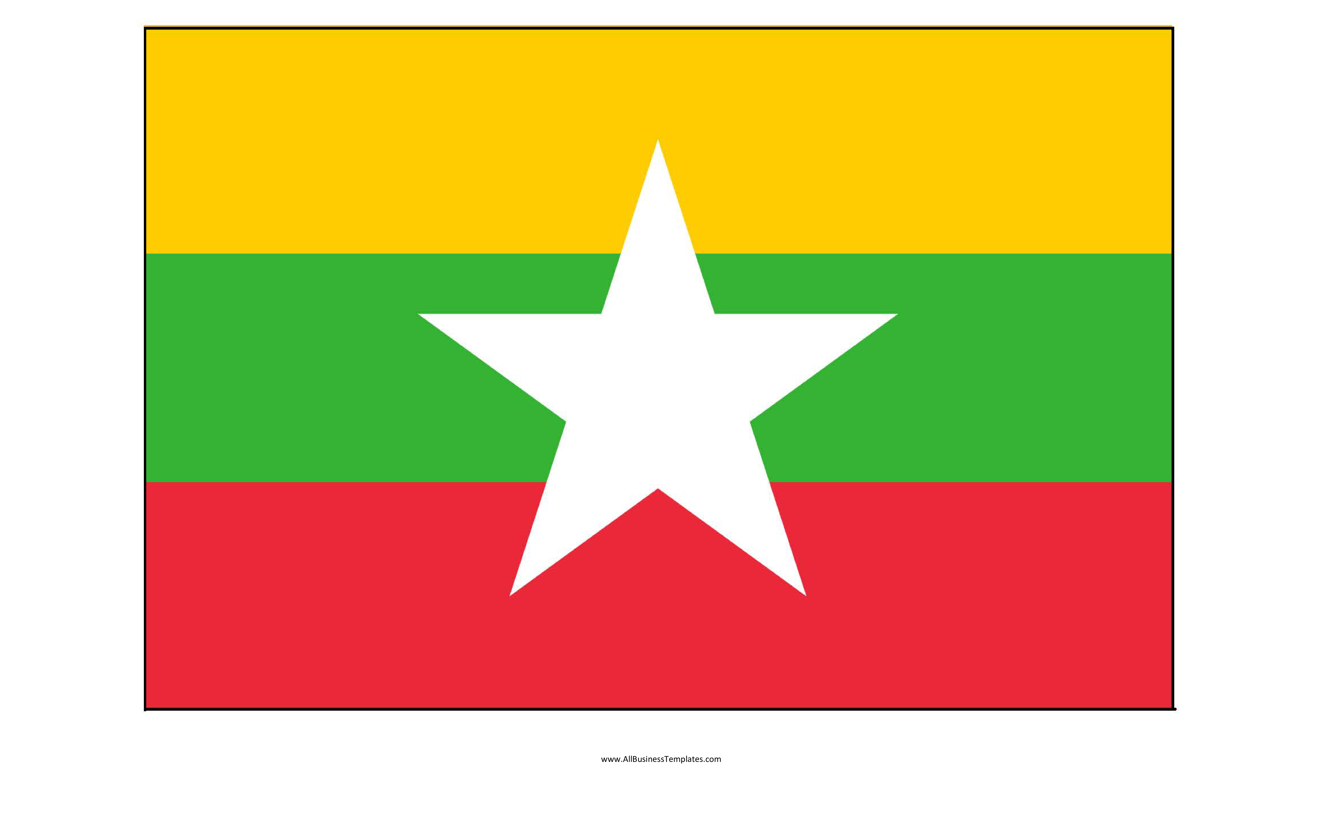 template topic preview image Myanmar printable flag