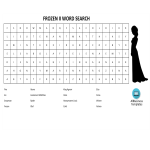 template topic preview image Word Search Frozen 2 with answers