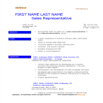 template topic preview image Service Sales Representative Resume