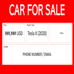 template topic preview image Car for Sale Template