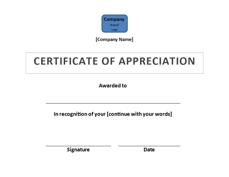 template topic preview image Certificate of Appreciation